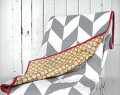 Modern herringbone quilt / chevrons quilt / geometric quilt / twin bed quilt / extra cover for double bed / throw quilt