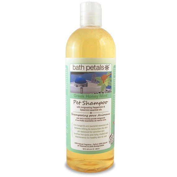 Bath Petals – Greek Honey Mint Pet Shampoo, 16 FL OZ U.S. / 448 ml e