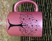 Pink Breast Cancer Awareness Mug - Support Tree of Courage - Breast Cancer Awareness Coffee Mug, Hope, Strength, Courage, Inspire, Hero