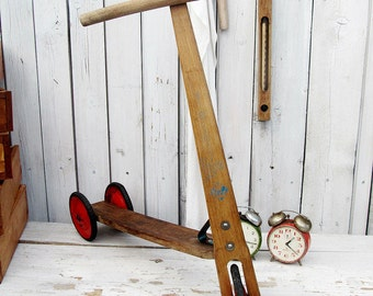 old Scooter / wood scooter /