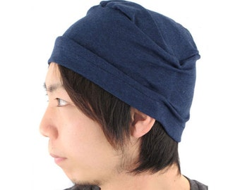100% Organic Cotton Night Cap Beanie Style Hat Sleeping and Indoor Use. Made In Japan  Ideal for Sensitive Skin be-opd