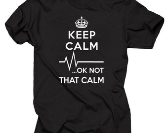 Gift For Paramedic Keep Calm OK Not That Calm T-Shirt EMT Funny Occupation Tee Shirt
