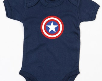 Captain America baby grow brother sister vest cute Avengers gift