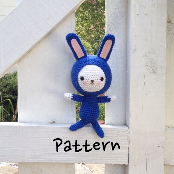 Amigurumi bunny pattern Crochet bunny pattern Crochet blue