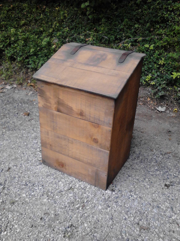 Primitive Coffee Box Laundry Hamper Potato Bin Trash