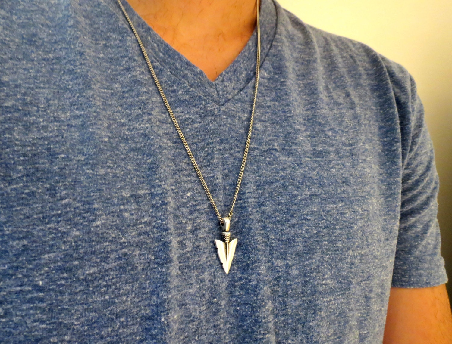 Men's Necklace Men's Silver Necklace Men's