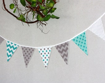 8 Cotton Flag Garland bunting