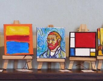 MiniArt /birthday gift/ art lovers/ artwork/famous artists
