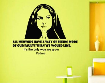 Wall Decals Padme Star Wars Quote Decal Sayings Sticker Vinyl Decals Wall Decor Murals Z299