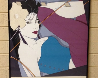 Original, Patrick Nagel, Ninth in the Series, My Own Way, Rich Colors, Quintessential 80s, Free Shipping