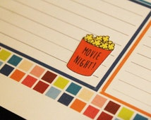 30 Movie Night Life Planner Stickers Scrapbook Stickers Reminder Stickers Night In Stickers Family Night Movie Night