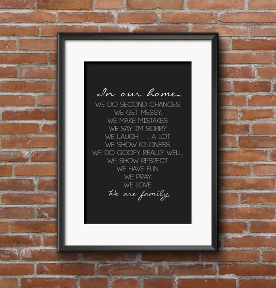 House Rules INSTANT DOWNLOAD 18x24 Poster Printable Art Print, In Our Home, Wall Decor, Housewarming, Family Poster Print