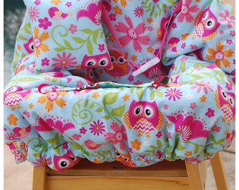 Shopping Cart Cover - Designer Cart Cover - Grocery Cart Cover -  Owls