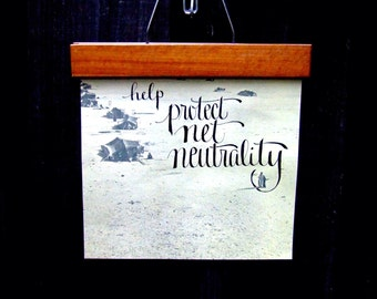 help protect net neutrality, Save Net Neutrality, Calligraphy on Vintage Atlas Paper,