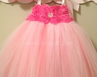 Coral and Ivory Tutu Dress, Flower Girl Ivory Coral dress for weddings, toddler, girls, baby, custom dress - all sizes