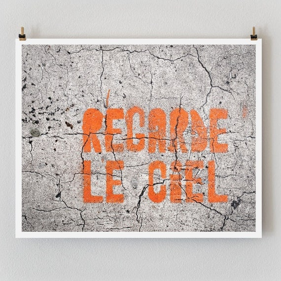 "SALE! Paris Photography, ""Regarde le Ciel"" Paris Print Extra Large Wall Art Prints"