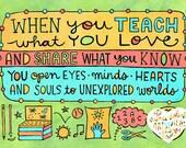 Teach What You Love (jumbo magnet)