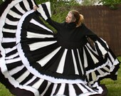 Custom- Ultimate Recycled Black and White Sweater Coat by SnugglePants- The Image of the World
