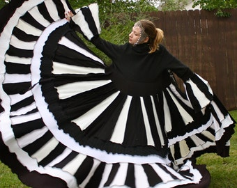 Ultimate Recycled Black and White Sweater Coat by SnugglePants- The Image of the World- Custom