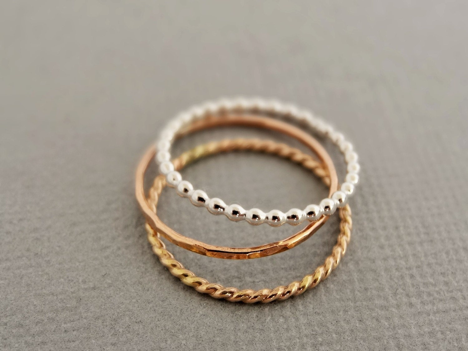 reserved thin stacking rings rose gold stackable. Black Bedroom Furniture Sets. Home Design Ideas