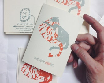 Letterpress Stationery, Purrrfect Greeting Card