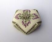 Lavender Bouquet Biscornu Cross Stitch pattern, Instant Download