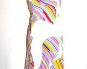 CHRISTIAN LACROIX Vintage Pure Silk Bazar Dress Draped Patterned - AUTHENTIC -