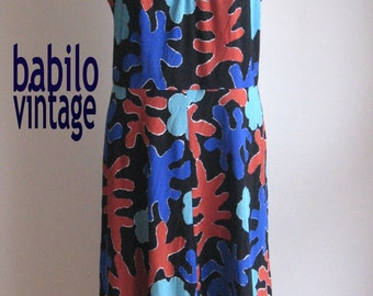 40% off 70s 80s vintage bold jigsaw dress
