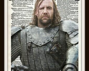 Sandor Clegane The Hound Game of Thrones Dictionary Art