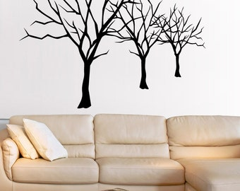 Vinyl Wall Decal Sticker Bare Trees Lineup 5307s
