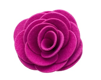 Pink Kitty Corsage - Ultrasuede® Removable Collar Flower