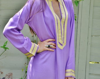 Mariam Style Lilac Caftan Kaftan- perfect for Christmas gifts, loungewear,resortwear, lounge, birthday gift, beach cover up