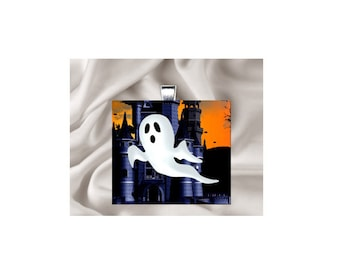 Pendant Necklace Halloween Ghost