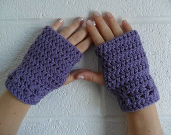 Kylie Wristlets - Digital Download PDF Pattern - Short Fingerless Gloves Hand Warmers
