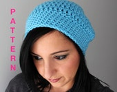 The Chi-Town Slouchy Hat, Adult Crochet Slouchy Hat PDF Instant Download