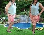 INSTANT DOWNLOAD Hearts Beach Skirt  - Summer Crochet Pattern
