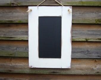 Office Chalkboard - White Chalkboard - Framed Blackboard - Corkboard  - Rustic Home Decor - Office Decor - Chalkboard UK - White Corkboard