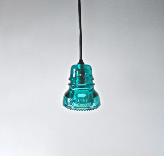 Items Similar To Large Pendant Light Antique Insulator