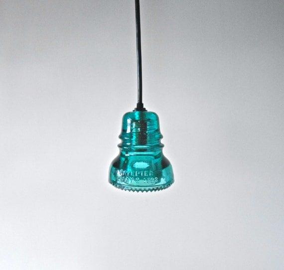Items similar to large pendant light antique insulator for Antique insulator pendant lights