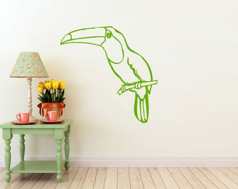 Toucan Decal | Rain Forest, Tropical Bird | Vinyl Wall Sticker