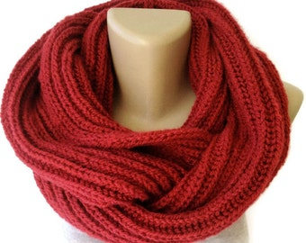 Valentines Day Gifts / Knitted Scarf Winter Scarf Women Knit Infinity Scarf Scarves Men Scarf Women Fashion Accessories senoaccessory