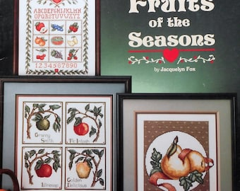 Stoney Creek Collection FRUITS OF The SEASON By Rain Drop (Multiple Designs)  - Counted Cross Stitch Pattern Chart Booklet