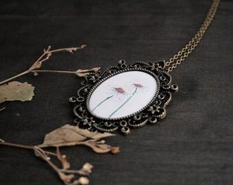 Daisy Pendant - Daisy Necklace - Cameo Necklace - Botanical Jewelry - Flower Necklace - Pendant Necklace - Wildflower