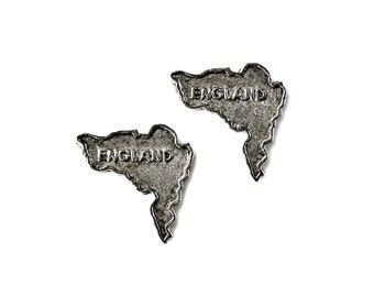 England Cufflinks - Gifts for Men - Anniversary Gift - Handmade - Gift Box Included