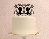 Wedding Cake Topper - Customized with YOUR OWN Silhouettes
