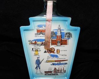 JIM Beam Pennsylvania Keystone Gettysburg JiM BEAM Decanter 1967 Historic collectible Ceramic  Jim Beam trophy bottle