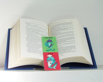 Go Fish Play Card Bookmark - Go Fish Bookmark - Swordfish and Shark Bookmark - Swordfish - Shark - Laminated Bookmark