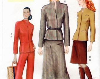 Vogue Pattern 7389 - Misses Jacket, Skirt & Pants - 8-12 - UNCUT