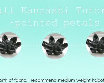 Fabric Flower Pattern - Kanzashi Tutorial - Fabric Flower Tutorial - Instant Download  PDF Tutorial - Craft Tutorial  - DIY Fabric Flower