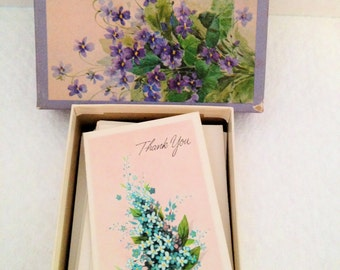 Sweet Little Box of Misc Vintage Notecards